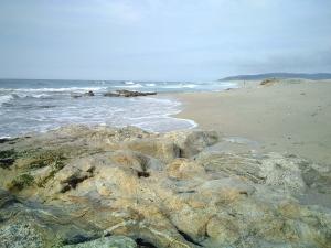 Praia de Razo onde disfrutaremos da sesión vespertina do Ondas de África