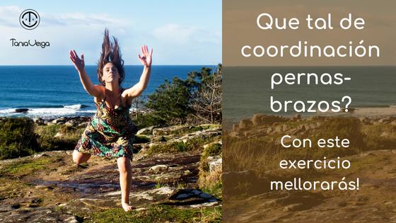 Exercicio para mellorar a coordinación entre pernas e brazos