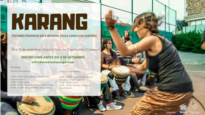 KARANG cursos intensivos para aprender danza e percusión malinkés organizado por AC Galinké en Santiago de Compostela
