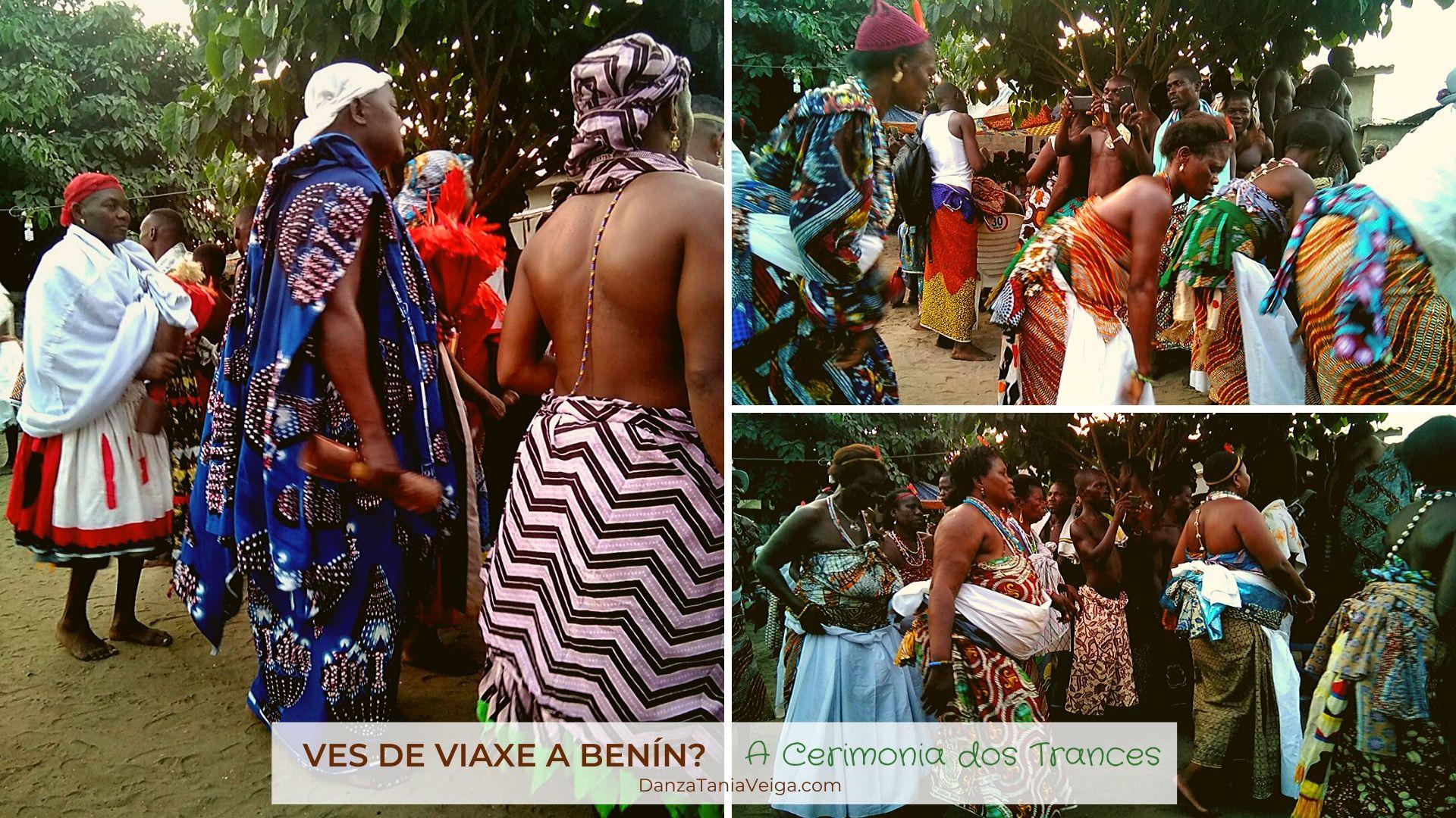 Grupos de mulleres na Cerimonia dos Trances