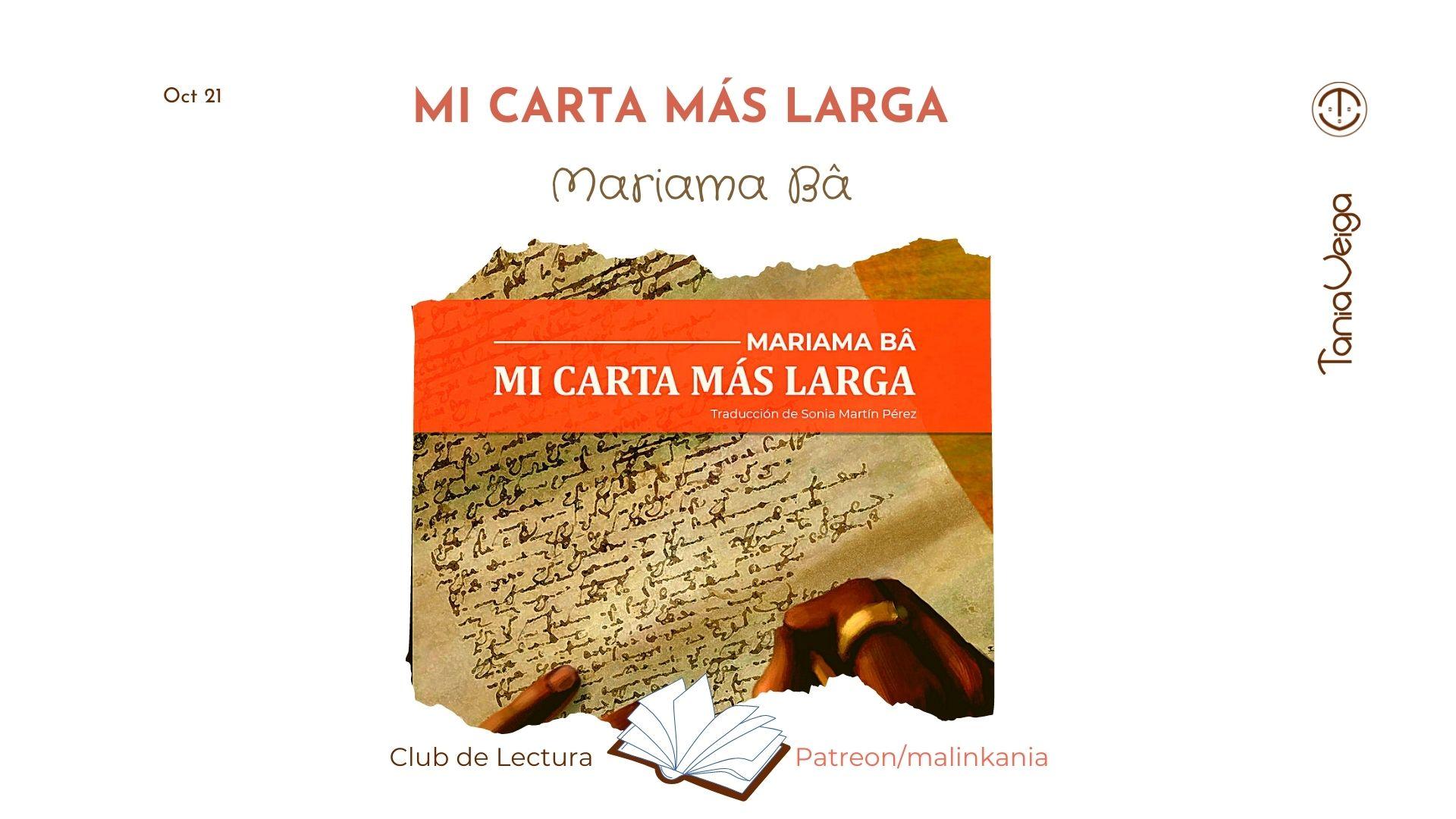 Mi carta más larga, Mariama Bâ